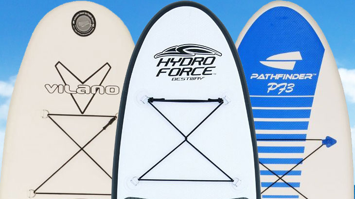Revision de 3 tablas de SUP inflables baratas: Bestway vs Pathfinder vs Vilano Navigator 37